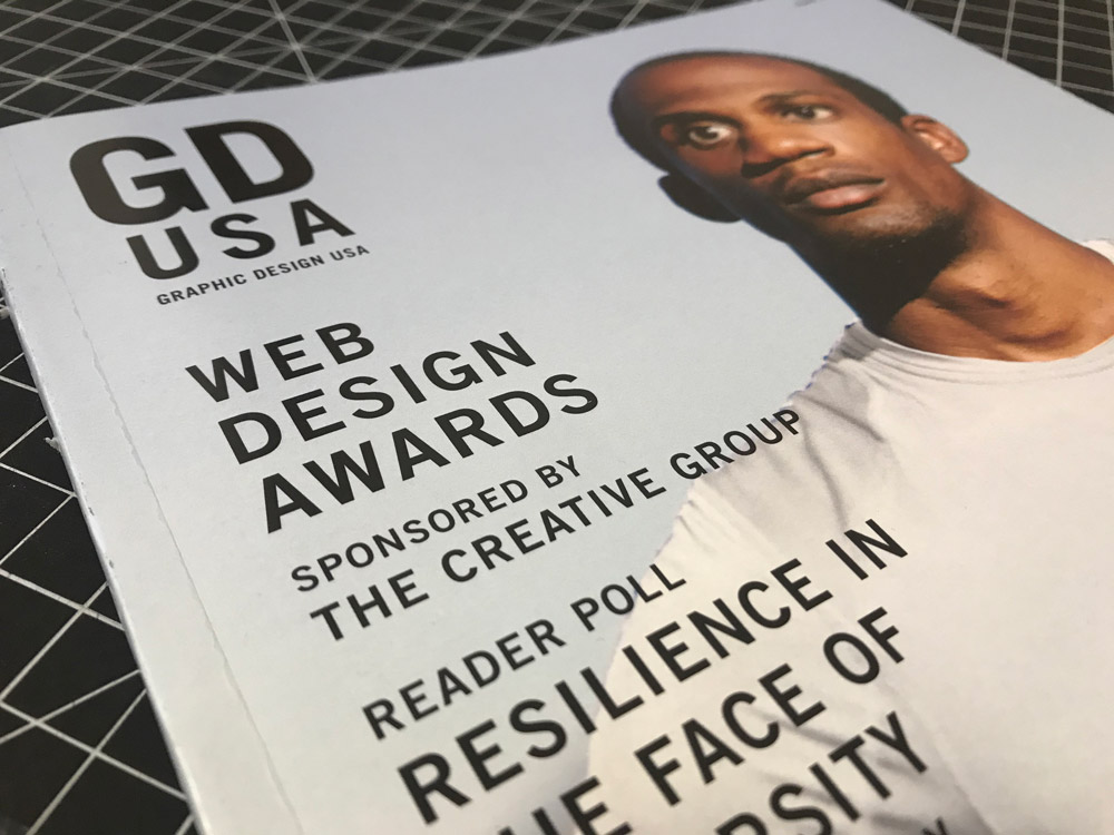 Cover of the June 2020 issue of GDUSA featuring the annual Web Design Awards