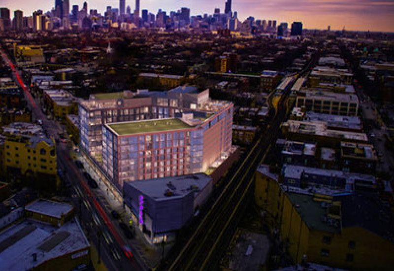 Elevate Lincoln Park building rendering