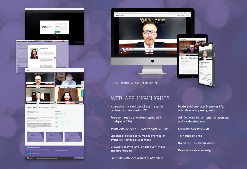 Live event web application for Northwestern Medicine